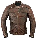 Vagos Veste de Protection en Cuir Moto, Moyen