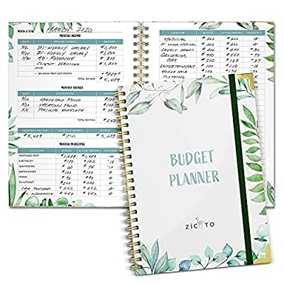 Budget Planning At Its Best: Achieve your financial goals and use the ZICOTO Greenery budget tracker to set new financial standards in your life, monitor your monthly income, savings, debts & daily expenses Create Financial Freedom: Start your journe...