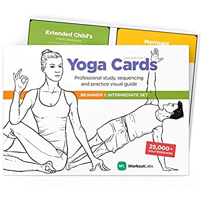 OWN THE FULL YOGA CARDS SUITE – 97 of yoga's essential poses, 6 breathing exercises, 11 guided yoga basics beginners and intermediate sequences and 2 Sun Salutations. IDEAL FOR TEACHER TRAINING – Pick the yoga flash cards used by Yoga Alliance teache...