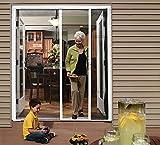 Cool Genius Retractable Screen Door for Double Door (Standard {Width (68' to 72') x Height 80', White)