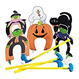 Fun Express Halloween Put Put Mini Golf Set (Includes Clubs and Balls and Holes) Halloween Toys