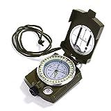 Gwhole Boussole Multifonctionnelle Professionnelle Orientation Militaire Portable en Métal pour...