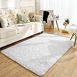 Super Soft Kids Room Nursery Rug 4' x 6' White Area Rug for Bedroom Decor Living Room Floor Carpets Fur Mat by VaryCarry