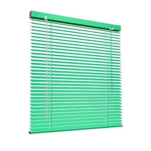 Victoria M. Veneziana in Alluminio, 100 x 220 cm, Verde, Montabile Senza Fori, Incluse Clip di Fissaggio Klemmfix