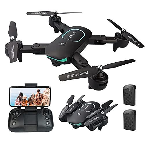 Gleamydot JY01 1080P Drone con Telecamera HD FPV, Un Pulsante di Decollo/ Atterraggio, modalità Senza Testa, G-Sensore, Volo Circolare, 3D Flip, Funzione di Hovering, Adatto ai Principianti (black)