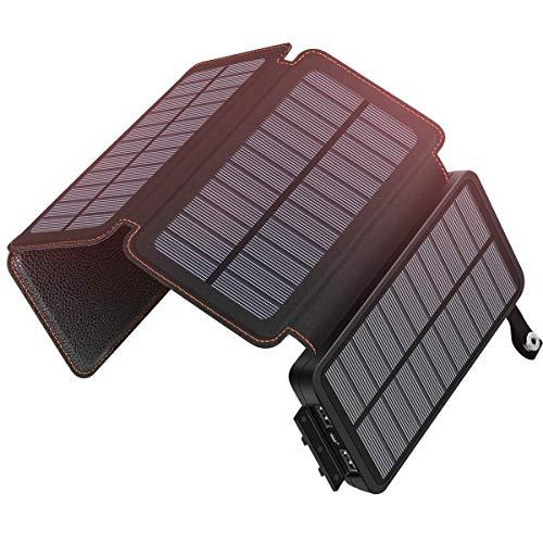 ADDTOP ソーラーチャージャー 20000mAh 大容量 ソーラー充電器 2つUSB出力ポート 4つのソーラーパネル ipho...