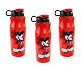 Zak Designs [3-Pack Disney Mickey Mouse 90th Anniversary 30oz Sullivan Sports Water Bottle, BPA-Free
