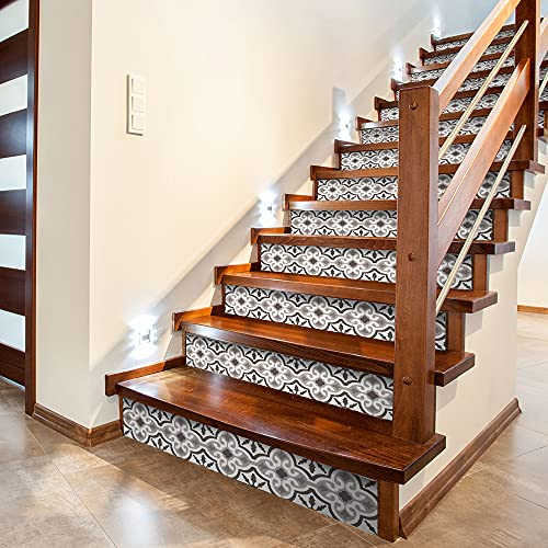 funlife 14 PCS Stair Risers Stickers, Peel and Stick Vinyl Staircase...