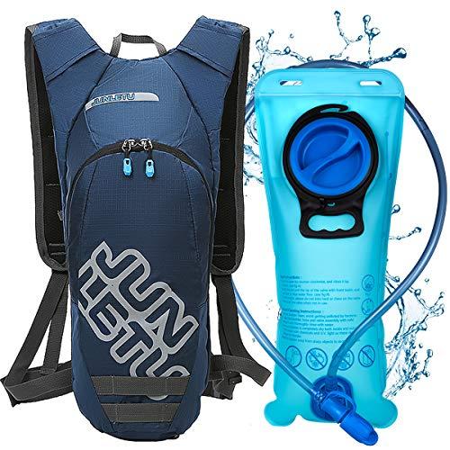 LUROON Mochila de Hidratación con 2L Bolsa de Agua sin BPA,...
