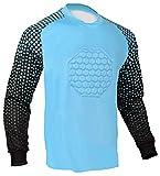 Soccer Goalie Shirt (Columbia Blue, Adult Medium)