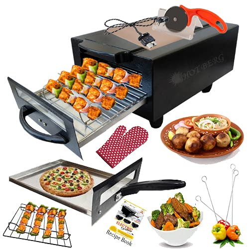 HOTBERG Big Electronic Tandoor with Full Accessories (16 Inches, Black)