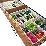 Divisores de Gavetas Ajustables de Uncluttered Designs para almacenamiento y organización de...