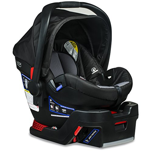 Britax B-Safe 35 Infant Car Seat - Rear Facing | 4 to 35 Pounds - Reclinable Base, 1 Layer Impact Protection, Ashton