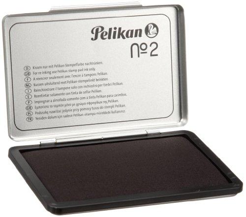 Pelikan 331777 Stempelkissen 2, getränkt, 7 x 11 cm, schwarz (Frustfreie Verpackung)