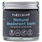 Bálsamo Desodorante Natural 60 ml de PureChimp - Cristal Reciclable – Carbón Activado - Vegano...