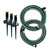 Melnor 95548-IN Multi-Adjustable Garden Above Ground Sprinkler System, Watering Set