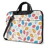 15.6″Durable Hombro Mensajero Bolsa maletín PC Dibujo De Hojas Moda Impermeable Ordenador Portátil/portátil/Tablets