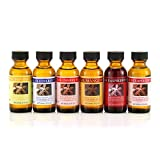 Bakto Flavors Natural Fruit Flavors Collection- Set of 6 (1 OZ) Bottles - Mango, Blueberry, Cherry, Banana, Raspberry, Strawberry