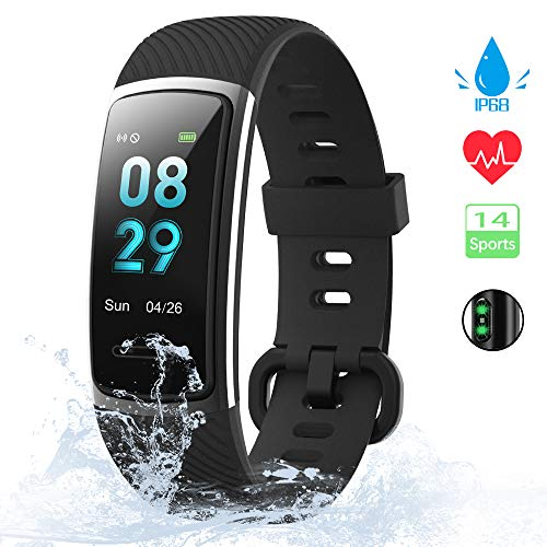 KUNGIX Orologio Fitness Tracker Uomo Donna Smartwatch Android iOS Cardiofrequenzimetro da Polso...