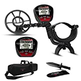 DR.ÖTEK Lightweight Metal Detector for Adults and Kids,Pinpointer Function,Bigger Outdoor Waterproof Coil, Set Includes Accessories Digger Tool, Carrying Bag