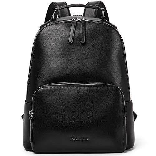 BOSTANTEN Damen Leder Rucksack 13 Zoll Laptoprucksack Vintage Reiserucksack Casual Backpack Daypacks Schwarz