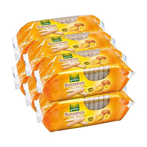 Gullón - Bizcochos de huevo, 2.400 g, Pack de 6