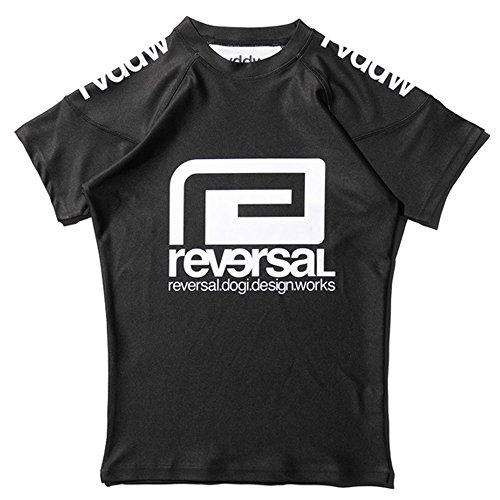 REVERSAL (リバーサル) ラッシュガード 半袖/rvddw RASH GUARD (BLACK, M)