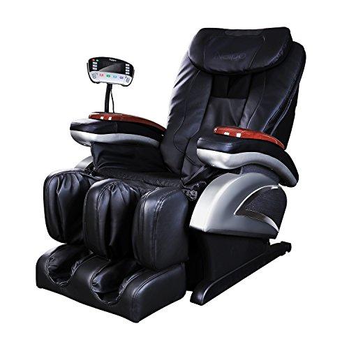 Naipo Shiatsu Massage-Stuhl Ganzkörper Massagesessel Fernsehsessel Entspannungssessel mit S-Schiene Heizungs-Therapie Luft-Massage-System Klopfen- Schlagen- Rollen- und Knetenmassage