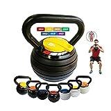 10-40LBS Kettlebell Weights Set, Adjustable Kettle Bells Weight Sets for Men Women Strength Training Exercise, 10 15 20 25 30 35 40 lbs Kettlebells, Home Fitness Gym Equipment,Black+Yellow