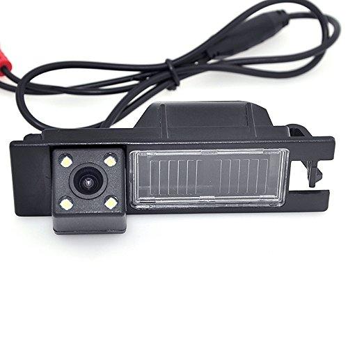 Greatek Telecamere Posteriori in Luce Targa (NTSC) Nero per Vauxhall Vectra Astra Zafira Corsa Insignia Meriva Antara Vivaro Doblo Grande