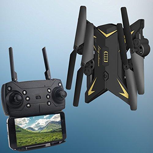ZZH Droni con Fotocamera 720P, Aircraft Professional WiFi FPV 3D Flips Live Drones per Bambini...