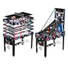 MD Sports 12-in-1 Multi Game Table Set for Adults, Kids, Families - Foosball Tables with 5 Conversion Tops, 4 Board Games, and Multiplayer Sports Games, All-Inclusive - Combination Arcade Games Kit