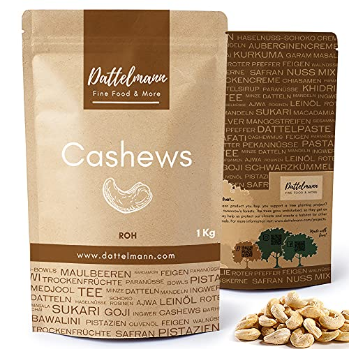 1Kg Cashewkerne Roh   Cashew   Jumbo   100 % Naturbelassene Cashew   Premium Qualität   Palmyra Delights