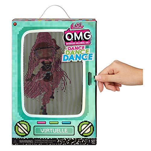 Image 3 - Poupée mannequin LOL Surprise OMG Dance Dance Dance virtuelle, avec 15 Surprises, vêtements stylés, Lumière noire magique, Accessoires, Chaussures, Socle, pack TV. Pour fille de 4 ans et plus