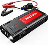 DBPOWER 2500A 21800mAh Portable Car Jump Starter for up to 8.0L Gas/6.5L Diesel Engines, 12V Auto Battery Booster, Portable Power Pack with Smart Charging Port