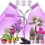 Railee Lmpara de Plantas, 72W 144 LED 3 Cabezales Lmpara de Crecimiento Luz para Plantas Interruptor Temporizador Auto 3/6/12H Regulable 360 para Siembra en Crecimiento, Germinacin y Floracin
