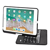 BATTOP iPad Mini Keyboard - Swivel 360 Degree Rotatable Bluetooth Keyboard Case - iPad Mini Bluetooth Keyboard - Compatible ipad Mini 3 / iPad Mini 2 / iPad Mini -Black