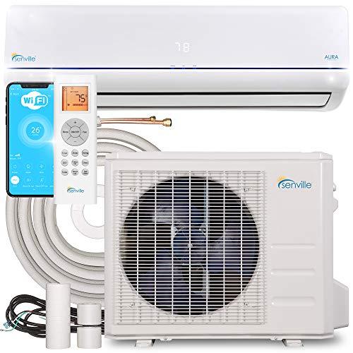 Senville Aura Series Mini Split Air Conditioner Heat Pump, 12000 BTU, White