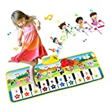 EXTSUD Piano Mat,Musical Keyboard Playmat Electronic Music Play Blanket Dance Mat Early Educational Toys for Boys Girls Birthday Xmas Gifts for Kids