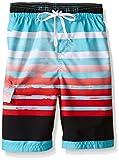 Kanu Surf Boys' Big Quick Dry UPF 50+ Beach Swim Trunk, Reflection Aqua, 18/20