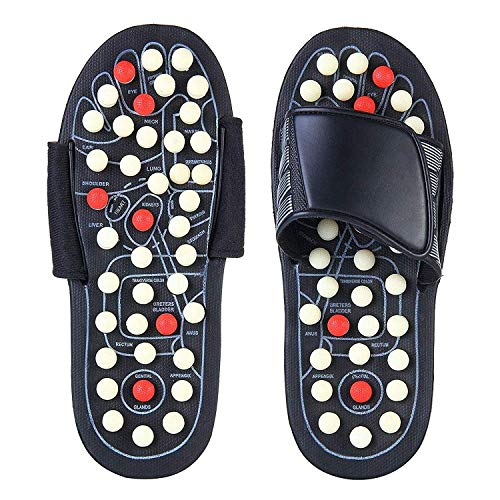 LUCIA Spring Acupressure and Magnetic Therapy Accu Paduka Slippers for Full Body Blood Circulation Natural Leg Foot Massager Slippers For Men and Women (Unisex) (Size 6, 7, 8, 9)