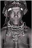 Lienzos De Fotos 60x80cm Sin Marco Carteles e impresiones en blanco y negro de la decoración del hogar del retrato del hombre africano
