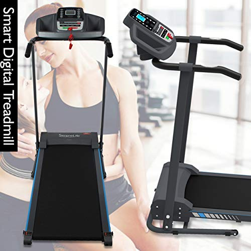 SereneLife Smart Electric Folding Treadmill – Easy Assembly Fitness Motorized Running Jogging Exercise Machine with Manual Incline Adjustment, 12 Preset Programs | SLFTRD20 Model 2
