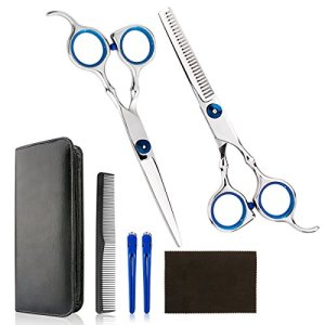 Professional Home Hair Cutting Kit - Quality Home Haircutting Scissors Barber/Salon/Home Thinning Shears Kit with Comb… 34