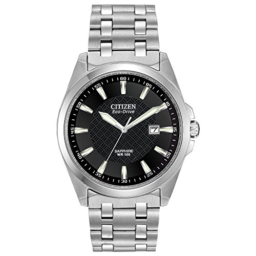 Citizen Men's Eco-Drive Stainless Steel Dress Watch with Date, BM7100-59E