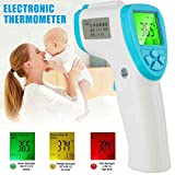 Karooch LCD Non-Contact Infrared Thermometer Forehead Body Temperature Tool Measure for Babies, Kids, Toddlers, Adults, Display is Digital and Accurate, Thermometer for Precise Fever Tracking at Home