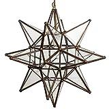 Glass Star Lights - 18 Inch Moravian Star Light (Clear)