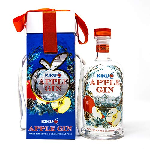 Roner Kiku Apple Gin (1X 0,5L) Da Botaniche Dalle Dolomiti E Mele Kiku Con Cuore Di Miele Distilleria Roner Artigianale Alto Adige Sdtirol - 500 ml
