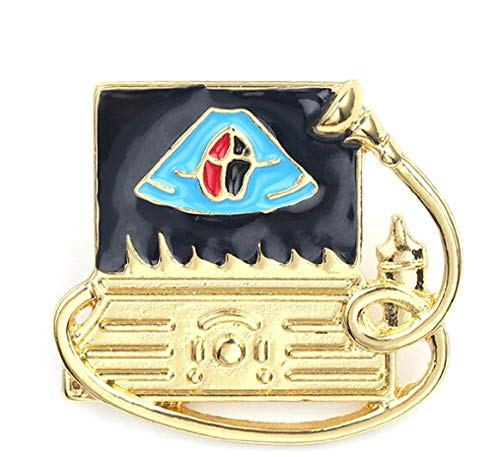 """Ultrasound Doppler Gold Plated Cardiovascular,Fetal,Obstetric 1"""" Pin Brooch.Perfect for Nuclear Medicine Ultrasound Technologist,& Radiology.Nice for Your ID Badge or Lapel"""