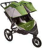 Baby Jogger Summit X3 Double Jogging Stroller - 2016 | Air-Filled Rubber Tires | All-Wheel Suspension | Quick Fold Jogging Stroller, Green/Gray